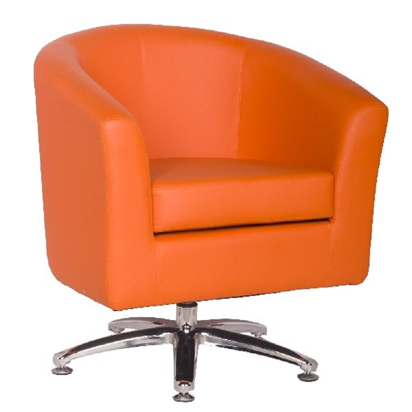 Leather Tub Chairs Designer Leather Swivel Tub Chair