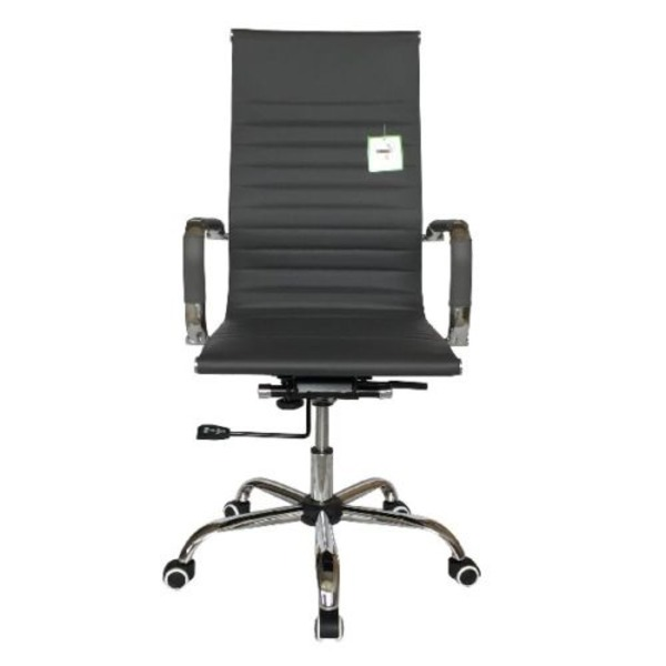 office chairs eames style high back ribbed executive computer office chair grey chairs warehouse. Black Bedroom Furniture Sets. Home Design Ideas