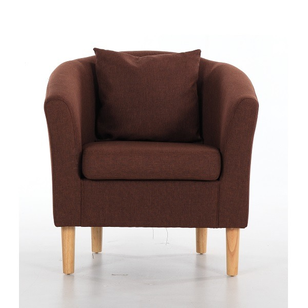 Fabric Tub Chairs Deluxe Fabric Tub Chair Armchair Dark ...