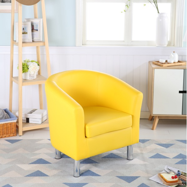 Leather Tub Chairs Designer Leather Tub Chair Armchair Yellow 183 Chairs Warehouse